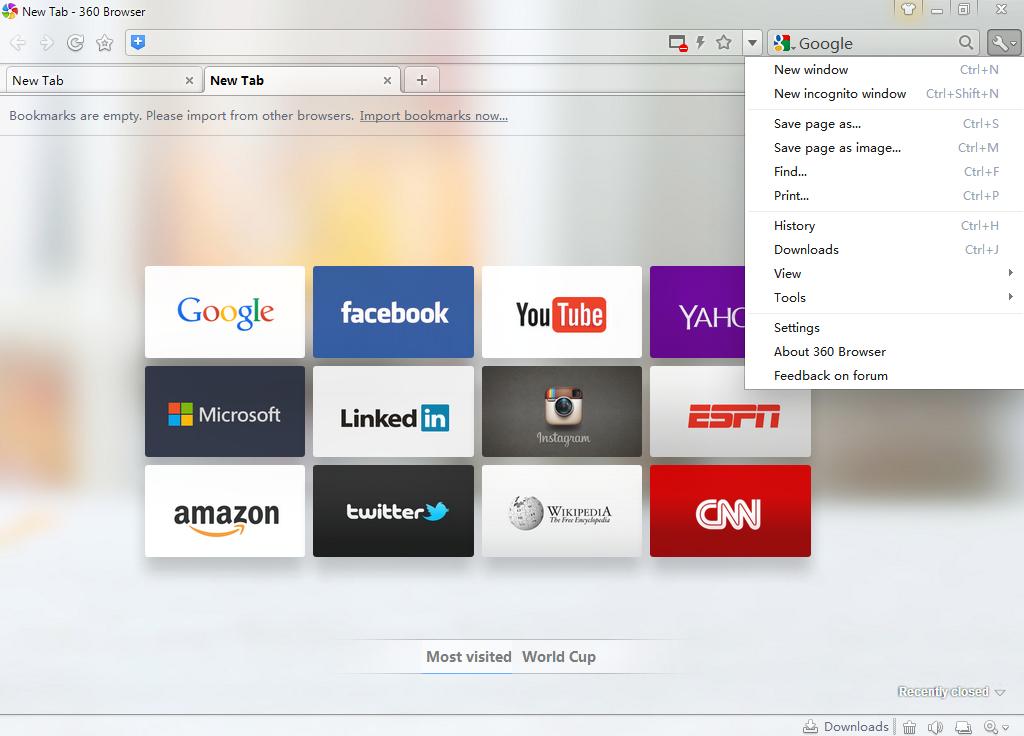 Список все браузеры Qihoo