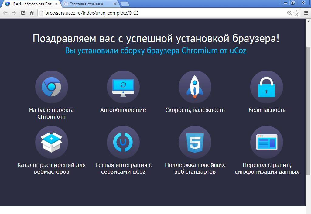 Список все браузеры Uran Уран