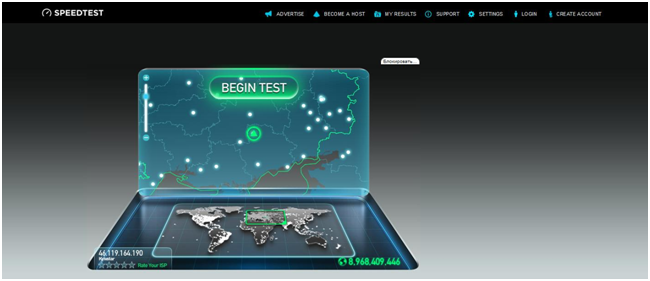 Сервис speedtest.net