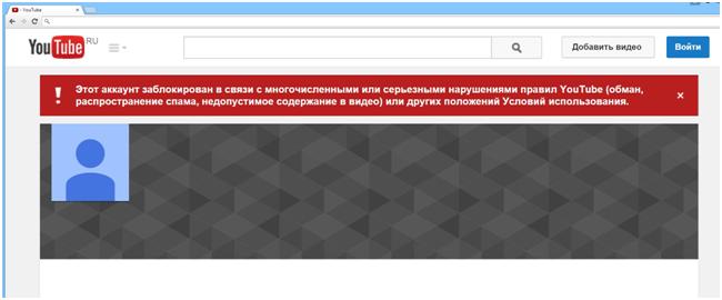 Заблокированный контент
