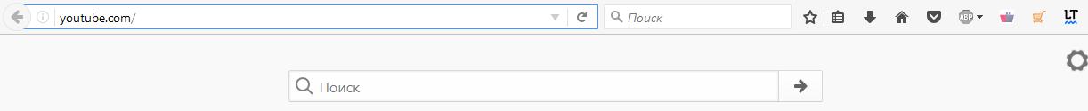 Вводим ссылку сайта в поисковой строке